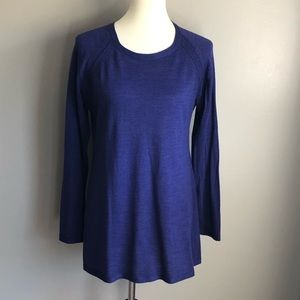 Eileen Fisher Blue Italian yarn merino sweater, M